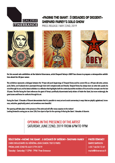 "Press Release ""Obey"" galerie Itinerrance"