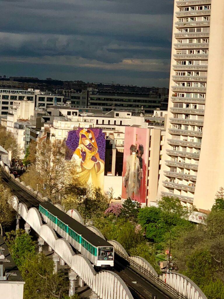 Photos des fresques d'Inti et de Conor Harrington pour Boulevard Paris 13