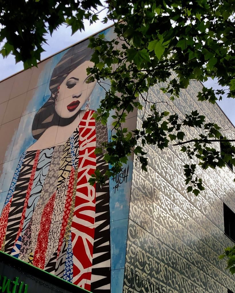 Photo de la fresque de Hush