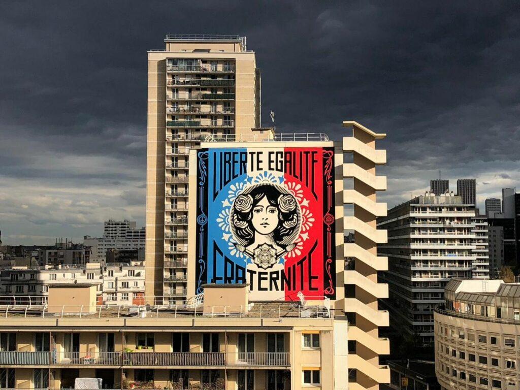 Photo de la fresque de Shepard Fairey pour Boulevard Paris 13