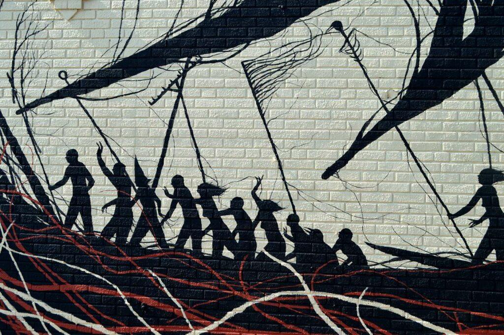 Fresque de David De La Mano aux Etats-Unis