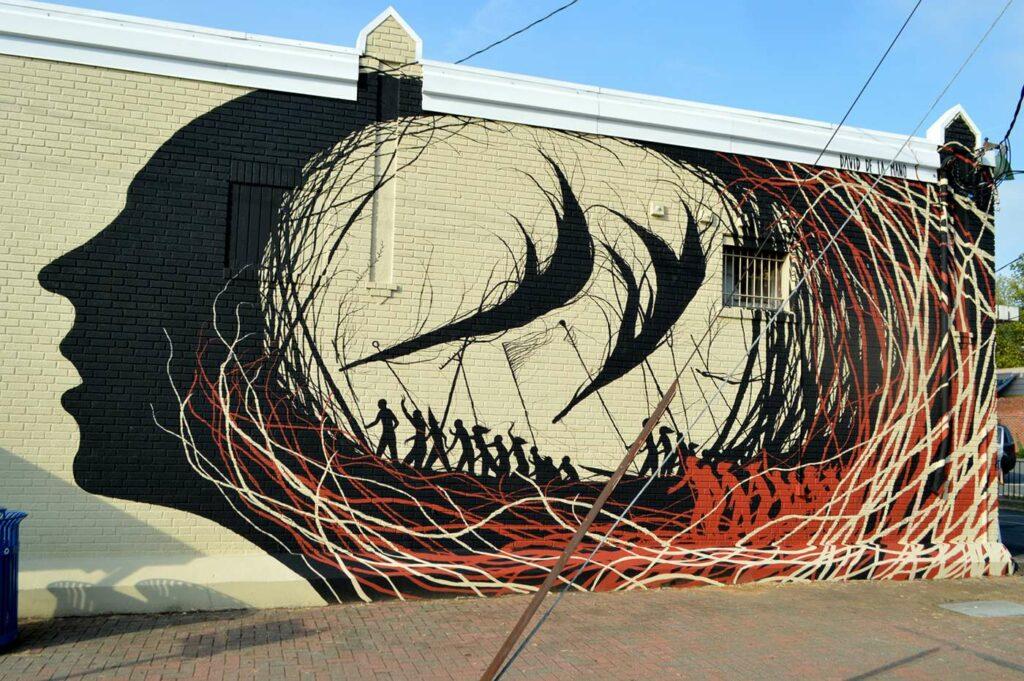 """Fresque de David De La Mano aux Etats-Unis© David de la Mano, """"Change begin inside"""", Arlington, Virginie"""
