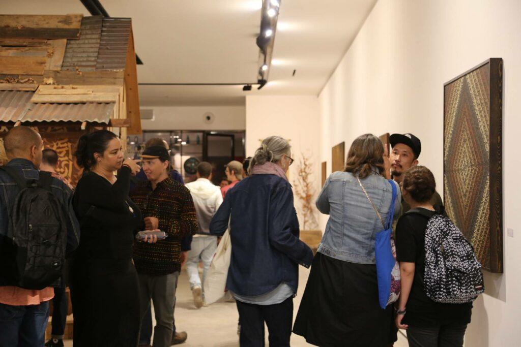 Photo vernissage de Cryptik à la galerie itinerrance